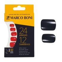 Kit Com 24 Unhas Postiças Em Gel Autoadesiva com 12 Tamanhos - Marco Boni -