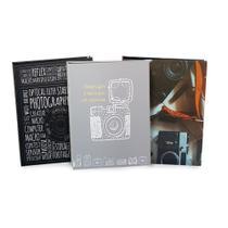 Kit com 3 álbuns de folhas pretas 160 fotos 10x15 - Ical