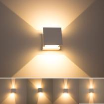 Kit com 3 Arandelas 2 Fachos Regulável Led Garantia de 5 Anos - luminárias brancas St423 - Starlumen
