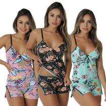 Kit com 3 Baby Dolls Maui Algodão Penteado - Click Mais Bonita