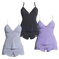 Kit com 3 Baby Dolls - Polo Match -