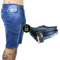 Kit com 3 Bermudas Jeans Vira Lata Wear Originais lavadas -