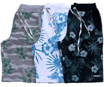 Kit Com 3 Bermudas Shorts Moletom Masculinas Premium - Equilibrium