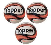 Kit com 3 Bolas De Futsal Topper Dominator -