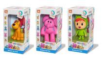 Kit com 3 bonecos Turma do Pocoyo: Loula + Elly + Nina  Cardoso Toys -
