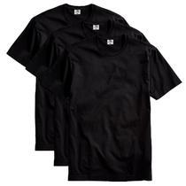 Kit com 3 Camisetas Masculina Básica Algodão Premium Preta - Part.B