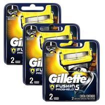 Kit com 3 Cargas Gillette Aparelho de Barbear Fusion Proshield c/2 -