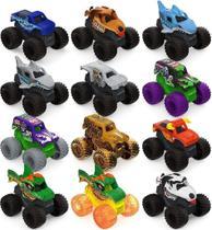 Kit com 3 Carros Surpresa - Monster Jam Mini de 5 cm - Sunny - Spin Master