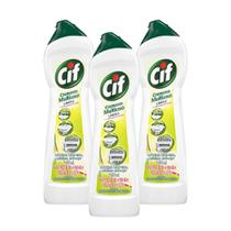 Kit com 3 Cif Cremoso Limpeza Profunda Limao 450Ml -