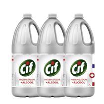 Kit com 3 Cif Higienizador + Álcool 2L - Unilever