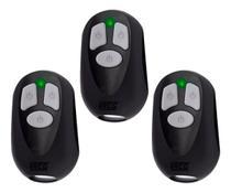Kit com 3 Controles Remoto para Portão Eletronico Rcg Seg Garen Ppa -