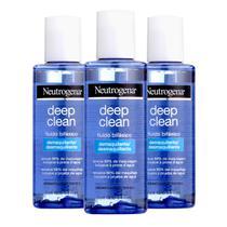 Kit com 3 Demaquilante Neutrogena Deep Clean 117mL -