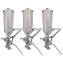 Kit com 3 Doceira e Recheadeira de Churros R2 2 Litros -