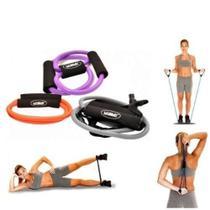Kit Com 3 Elásticos Extensores Ginástica Fitness Liveup 3211 -