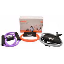 Kit com 3 Elásticos Extensores Training Set - LIVEUP LS3211 -