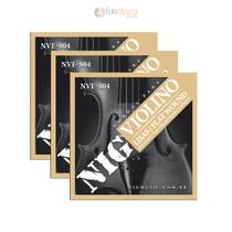 Kit com 3 Encordoamentos Violino Nig NVE804 -
