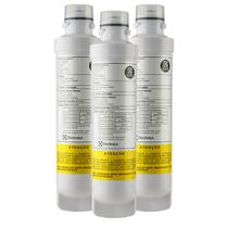 Kit com 3 - Filtro/Refil de Água para Purificador Electrolux PE11B/PE11X/PC41B/PC41X/PH41B/PH41X -
