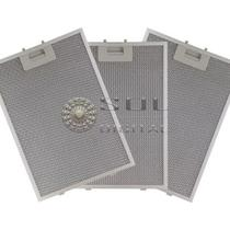 Kit com 3 Filtros Metálicos para Coifas Electrolux 90CIT Ilha -