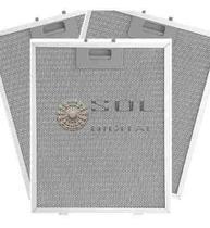 Kit com 3 Filtros Metálicos para Coifas Electrolux 90CX -