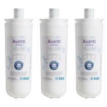 Kit com 3 Filtros Refil Avanti para Purificador de Água IBBL - Avanti e Mio (Original) -