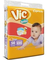 Kit Com 3 Fralda Capricho Vic Baby Xxg Atacado Com 168 Unid. - Capricho Vic Baby Mega