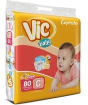 Kit Com 3 Fraldas Capricho Vic Baby G  Atacado Com 240 Unid. - Capricho Vic Baby Mega