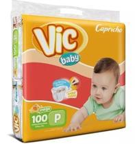 Kit Com 3 Fraldas Capricho Vic Baby P Atacado Barato Com 300 Unid. - Capricho Vic Baby Mega