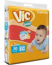 Kit Com 3 Fraldas Capricho Vic Baby Xg Atacado Com 210 Unid. - Capricho Vic Baby Mega