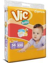 Kit Com 3 Fraldas Capricho Vic Baby XXG  Atacado Com 168 Unid. - Capricho Vic Baby Mega