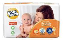 Kit com 3 fraldas pompom confort fit p -