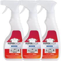 Kit com 3 Frascos de Limpa Inox Líquido Tramontina com Remoção de Manchas - 300ml -