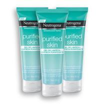 Kit com 3 Gel de Limpeza Purificante NEUTROGENA Purified Skin 80g -
