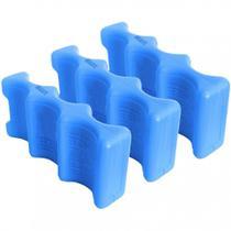 Kit com 3 Gelo Reutilizavel Formato de 3 Latinhas Plastico Reciclavel  Gelbrix -