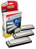 Kit com 3 Harmonicas Blues Band 559/20 (A, C, G) - Hohner -