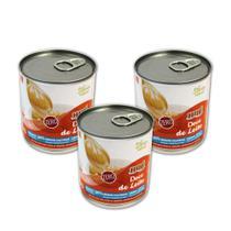 Kit com 3 latas de Doce de Leite Diet Hué (Sem Adição de Açúcares) Sem Glúten (335g cada) -