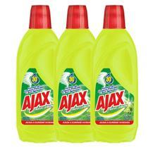 Kit com 3 Limpador Diluível Ajax Fresh Lemon 500ml Cada -