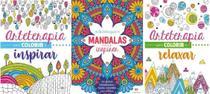 Kit com 3 livros para colorir Arteterapia + Mandalas + Arteterapia - Ciranda Cultural
