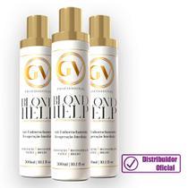 Kit com 3 Máscara  Anti Emborrachamento Reconstrução e Regeneração Blond Help GV PROFISSIONAL 300ml -