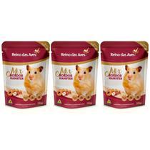 Kit Com 3 Mix Roedor Hamster 500g - Reino Das Aves -