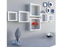 Kit Com 3 Nichos Brancos Mdf Decoração Cozinha Sala Quarto - DI CARLO