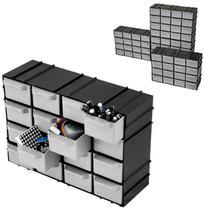 Kit com 3 Organizadores Mini Modulável 7001 com 16 Gavetas - Arqplast