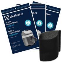Kit com 3 pacotes de Sacos Hidrovac CSEHV + Filtro Espuma Permanente A96888601 para Aspiradores  Electrolux -