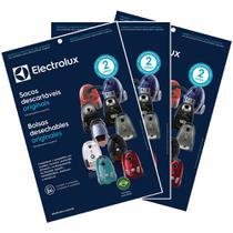 Kit com 3 pacotes de Sacos para Aspirador Electrolux Clario, Classic Silencer, Jetmaxx, Ultrasilencer, Ultraone - SBECL -