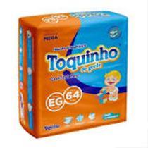 Kit com 3 Pacotes Fralda Descartável  Toquinho Confort Sec Mega EG C/64 -Promoção Pague 2 e Leve 3 -