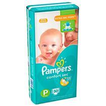 Kit com 3 pacotes Fralda Pampers Confort Sec - Tam P (5 a 8 Kg) Pacote Mega 50 unidades -