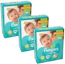 Kit Com 3 Pacotes Fraldas Pampers Confort Sec G -