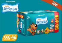 Kit Com 3 Pacotes Fraldas Scooby-doo Atacado Barato Revenda Tam XXG Com 138 Unidades - Scooby-Doo Baby