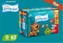 Kit Com 3 Pacotes Fraldas Scooby-doo Barato Tam G Com 186 Unidades - Scooby-Doo Baby