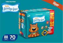 Kit Com 3 Pacotes Fraldas Scooby-doo Barato Tam M Com 210 Unidades - Scooby-Doo Baby