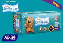 Kit Com 3 Pacotes Fraldas Scooby-doo Mega Atacado Barato Revenda Tam XG Com 102 Unidades - Scooby-Doo Baby